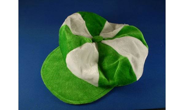 Green and White Flat Cap