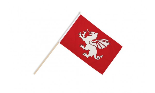 English White Dragon Hand Flags (C)