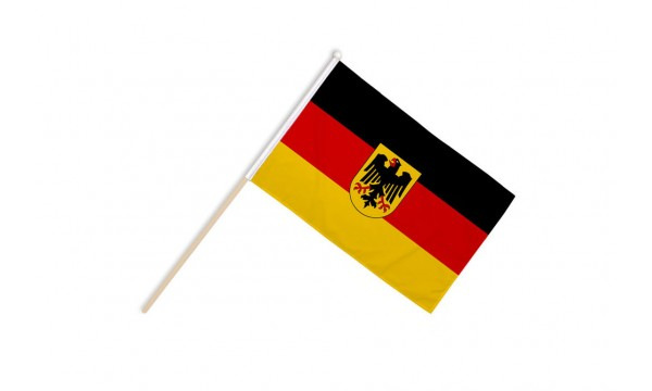 Germany Crest Hand Flags CLEARANCE (20% off)