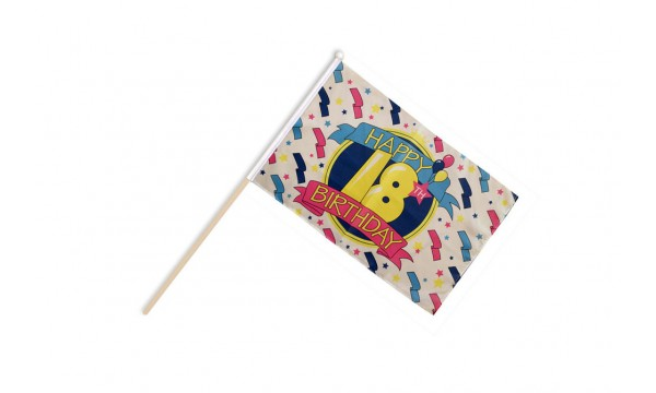 Happy 18th Birthday Hand Flags
