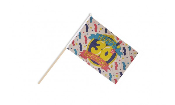 Happy 30th Birthday Hand Flags