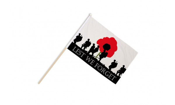 Lest We Forget (Army) Hand Flags