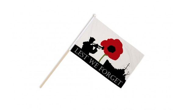 Lest We Forget (Navy) Hand Flags