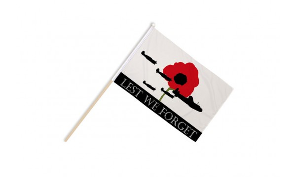Lest We Forget (RAF) Hand Flags