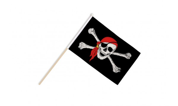 Pirate Bandana Hand Flags