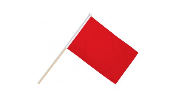 Plain Red Hand Flags
