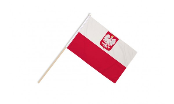Poland Crest Hand Flags
