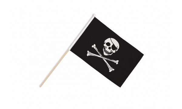 Skull and Crossbones Hand Flags