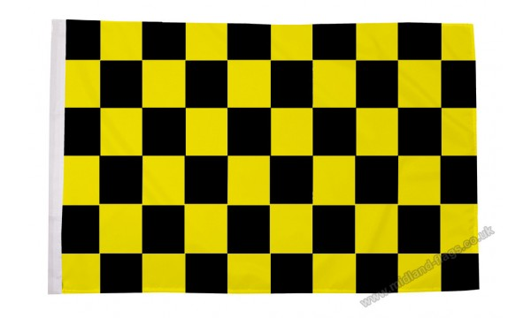 Black and Yellow Check Flag (Sleeved)