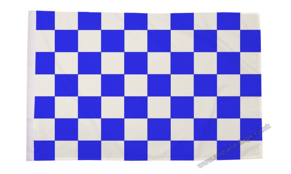 Blue and White Check Flag (Sleeved)