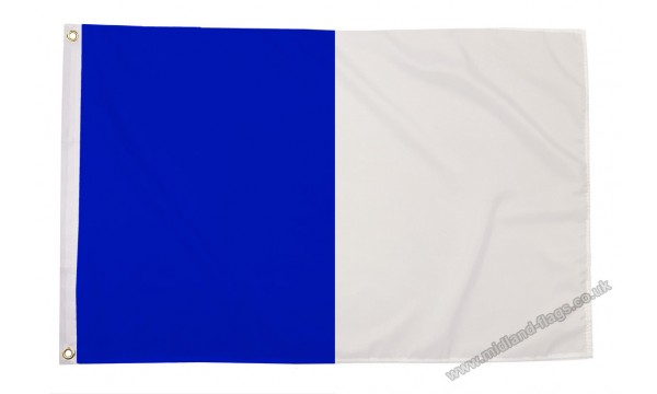 Blue and White Irish County Flag
