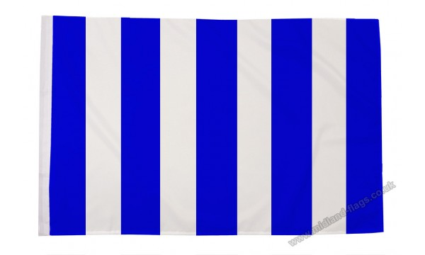 Blue and White Striped Flag (Sleeved)