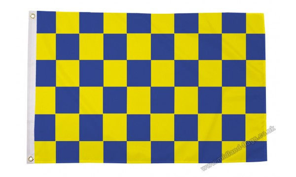 Blue and Yellow Check Flag