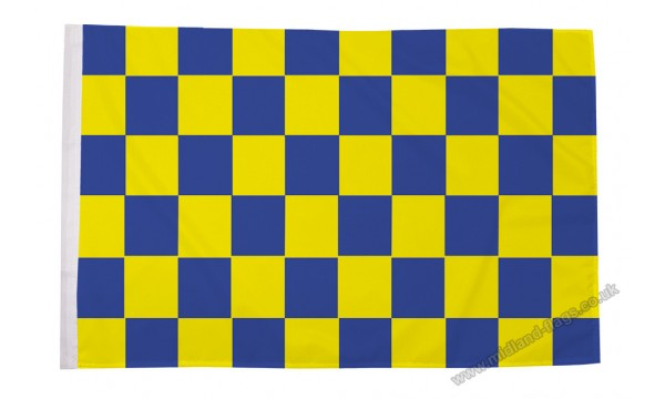 Blue and Yellow Check Flag (Sleeved)