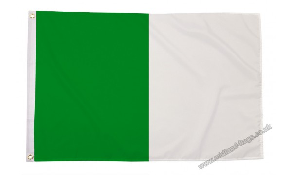 Green and White Irish County Flag