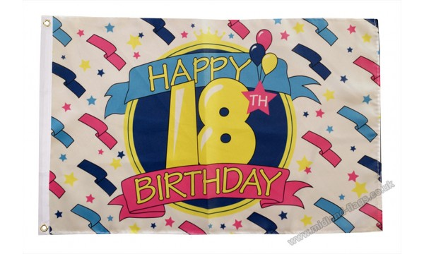 Happy 18th Birthday Flag