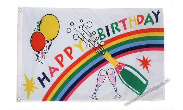 Happy Birthday Bottle Flag