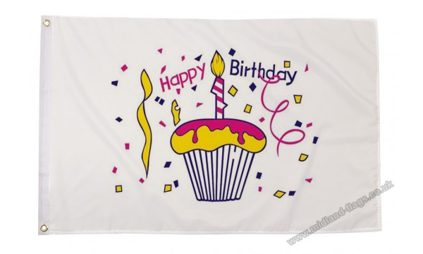 Happy Birthday Cake Flag