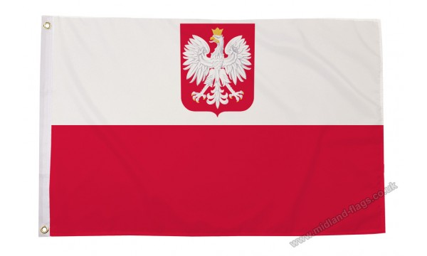 SALE - Heavy Duty Poland Crest Nylon Flag 30% OFF