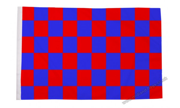 Red and Blue Check Flag (Sleeved)