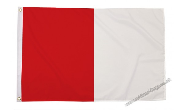 Red and White Irish County Flag