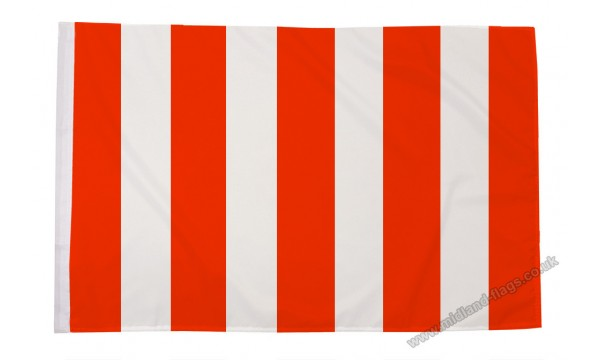 Red and White Striped Flag (Sleeved)