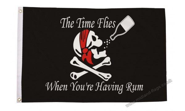 Time Flies When You Have Rum Flag