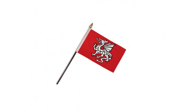 English Pendragon Anglo Saxon Hand Flags (A)