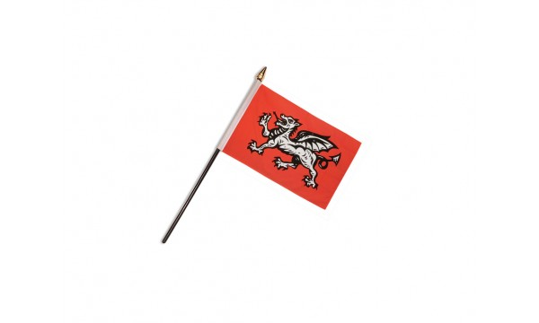 English Wessex Dragon Hand Flags (B)