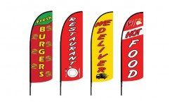 Burger Feather Flags