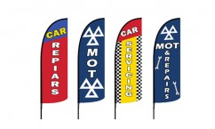 Car Repairs Feather Flags