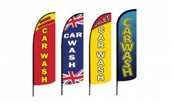 Car Wash Feather Flags