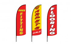Carpet Flooring Feather Flags