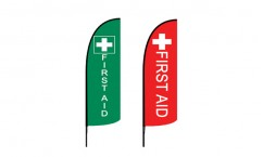 First Aid Advertising Flags