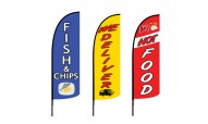 Fish & Chips Advertising Flags