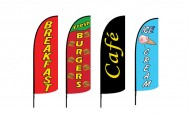 Food and Drink Advertising Flags