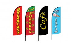 Food and Drink Feather Flags