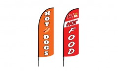 Hot Dogs Advertising Flags