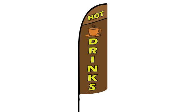 Hot Drinks Custom Advertising Flag