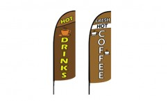 Coffee Feather Flags
