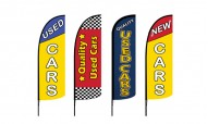 New & Used Cars Advertising Flags