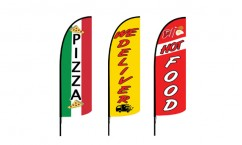 Pizza Advertising Flags