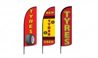 Tyres Advertising Flags