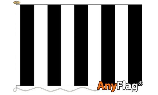 Black and White Striped Custom Printed 115gsm AnyFlag®