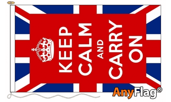 Keep Calm (UK) Custom Printed AnyFlag®