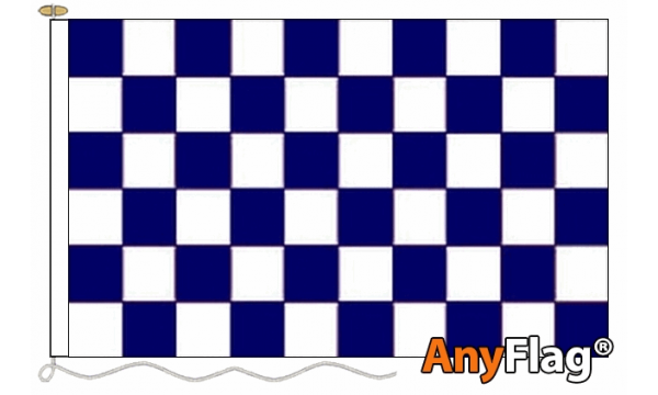 Navy Blue and White Check Custom Printed AnyFlag®