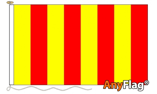 Red and Yellow Striped Small Custom Printed 115gsm AnyFlag®