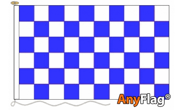 Blue and White Check Custom Printed 115gsm AnyFlag®