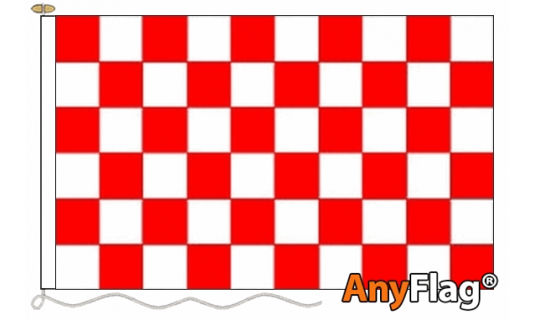 Red and White Check Custom Printed AnyFlag®