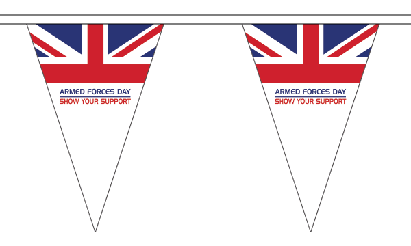 Armed Forces Day Triangle Bunting